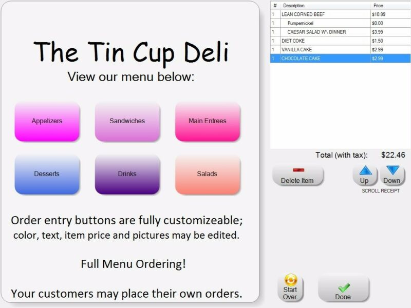 NEW Self-Service KIOSK POS Software for Restaurants & Retail Shops & MORE