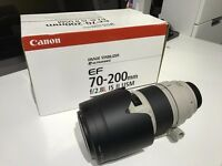 Canon 70-200mm F/2.8 L IS II USM Lens MK 2 As New With Filters