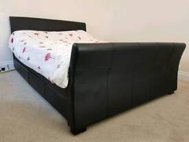 New leather double bed