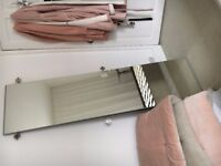 2 x IKEA Vikedal Mirrored Wardrobe Doors (incl hinges and screws)
