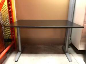 Brown Table with Silver T-Legs - $99