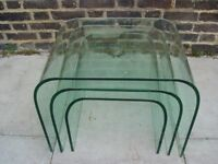 FREE DLEIVERY Glass Eclipse Nest Of Tables