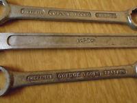 3x Gordon tools ring spanners