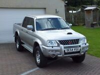 2004 MITSUBISHI L200 WARRIOR 4X4 DOUBLE CAB PICK UP DIESEL SILVER ANIMAL JUST SERVICED! 9 MONTH MOT!