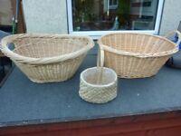 3x Wicker baskets.