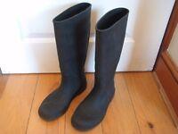 women's black wellington boots