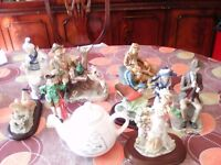 china & resin figures assorted
