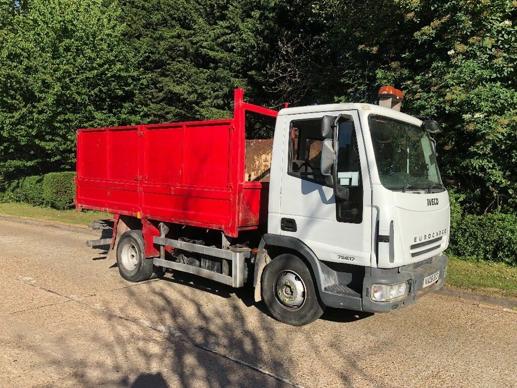 2006 Iveco eurocargo 7.5 ton tipper lorry, moted