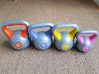 Kettlebells / weights with Rubber Feet