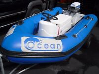 3.1m Ocean Rib / Boat / Inflatable with 15hp Evinrude Outboard