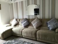 Sofa double recliners in excellent condition