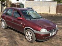 Vauxhall Corsa CDX 16V 1389cc Petrol Automatic 5 door hatchback W Reg 20/03/2000 Red