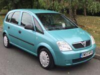 2004 Vauxhall Meriva 1.6 i Life Petrol Manual 5dr Hatchback MPV - P/X Welcome