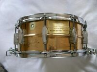 Ludwig seamless bronze 75th Anniversary Supersensitive snare drum 14 x 6 1/2-Chicago-'84-#23 - rare