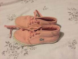 Lacoste Girls High Tops size 11