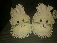 BNWT aromahome bunny slippers