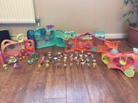 Various 'Littlest Pet Shop' charaters and playsets