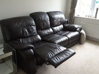 Dfs 3 seater leather recliner sofa