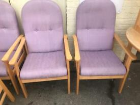 High Back Chairs with Arms