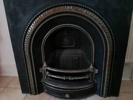 Victorian Cast Iron Fire Insert - Fireplace - Never Used
