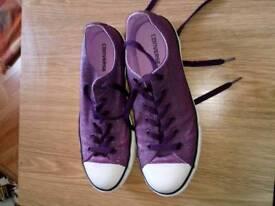 Ladies purple bling converse