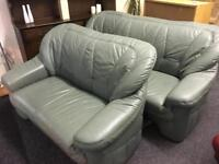 3 seater and 2 seater sofas green can deliver