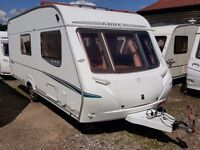 2006 Abbey GTS Vogue 416 4 Berth Side Dinette End Washroom Caravan with POWRTOUCH MOTOR MOVER
