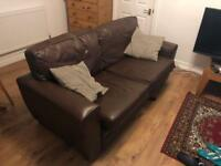 Brown leather sofa (FREE!)