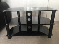 Black glass tv stand only £30