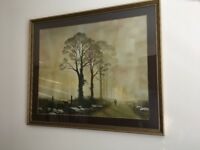 NEW PRICE!! Large Rural Landscape Painting - £40.00