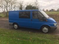 2005 55 FORD TRANSIT 2.0 TD WINDOW VAN 6 SEAT CREW VAN MPV FULL MOT CARPETTED ROOF PX SWAPS