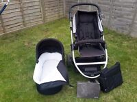 Mamas and papas zoom pushchair, with Carrycot and extras - now reduced