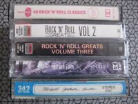 Various music cassette tapes