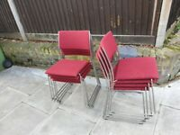 dietiker chair tila kufen stapelstuhl red solid and good condition 8 chair (price is for each)