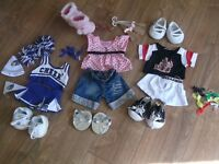 Build a Bear outfits, shoes and accessories