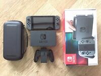 Nintendo Switch, Grey with box and case
