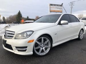 2012 Mercedes-Benz C-Class AWD with Leather and Sunroof! Heat...