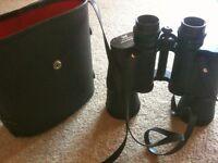 Vintage Mark Scheffel 10 X 50 Field Binoculars & Hard Carrying case -