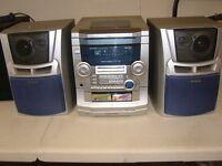 Aiwa CX-NSZ42EZ Hi Fi Stereo System CD Cassette Tuner & Speakers
