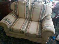 BARGAIN TWO SEATER SETTEE IN FABRIC MUST GO WAS TWENTY FIVE POUNDS NOW 20 POUNDS
