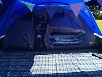 Voyager 6 tent with footprint and carpet