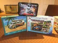3 Jigsaw Puzzles F1, Campervan, Top Gear Stig