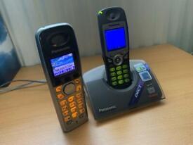 Panasonic cordless phones and dock