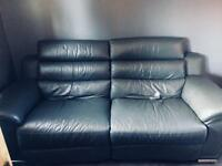 Grey leather reclining 2 seater sofa*reduced price*