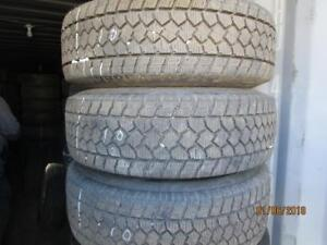 LT245/75R17 SET OF 4 USED TOYO WINTER TIRES ON FORD STEEL RIMS