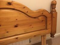 Solid Oak Bed Headboard