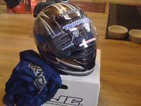 takachi motorbike helmet in size xs new in box £30