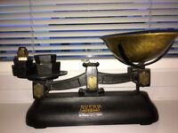 W T Avery cast iron kitchen scales