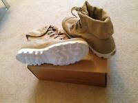 New -cream boots- size 7