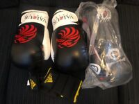 Boxing gloves and hand wraps